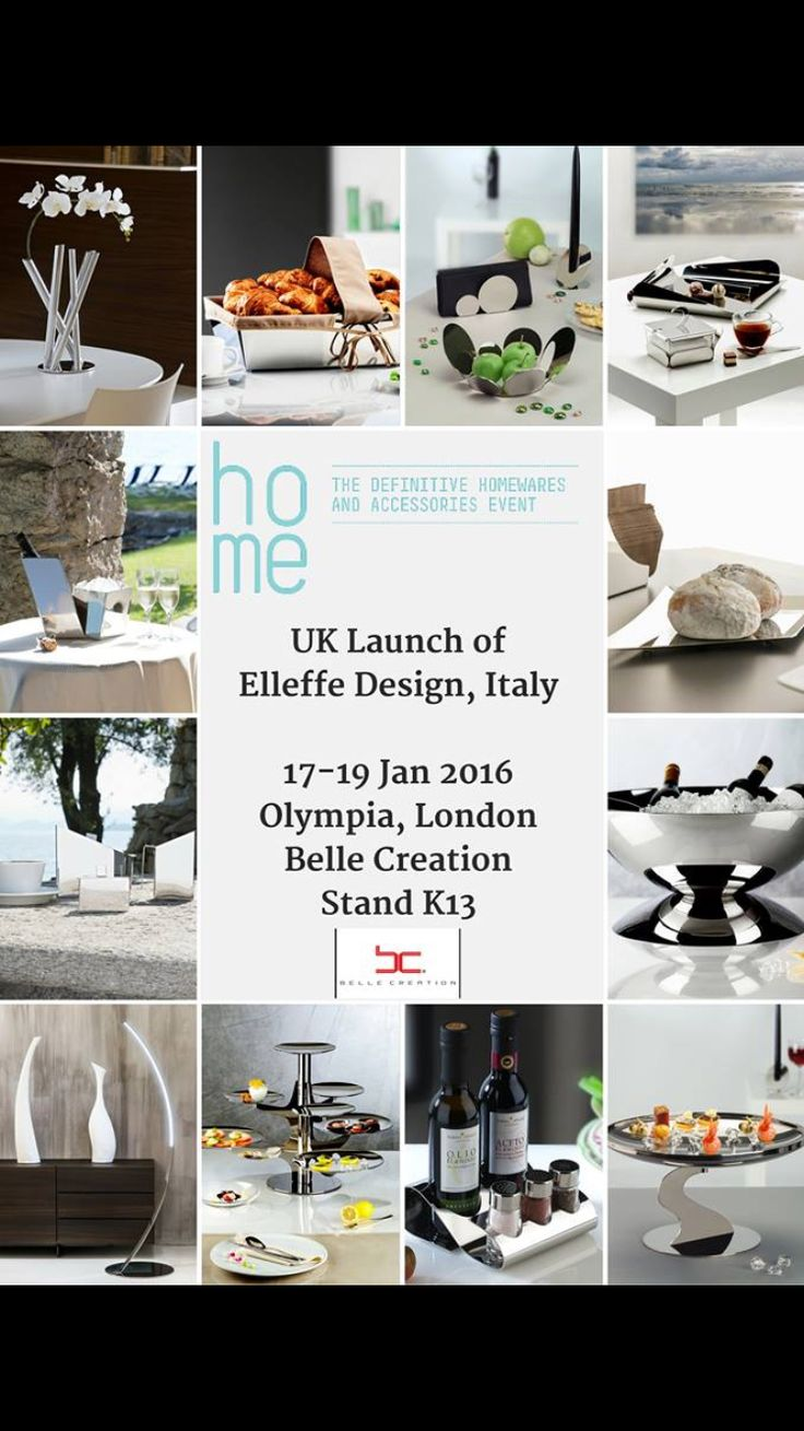 UK exclusive launch of Elleffe Design, Italy  17-19 JAN 2016 OLYMPIA, LONDON Belle Creation Stand K13