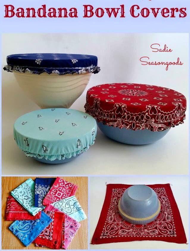O Lado de Cá: Tampas em tecido para potes de cozinha e outros
