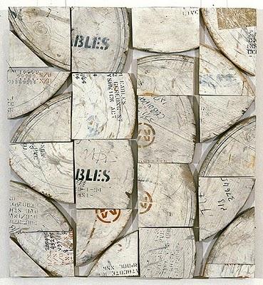 Wood composition from New Zealand artist Rosalie Gascoigne (1917-1999)
