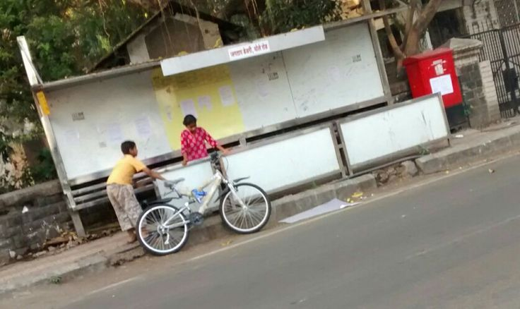 It's my turn, OK? Boy tells his sis, as these kids play with their new bicycle