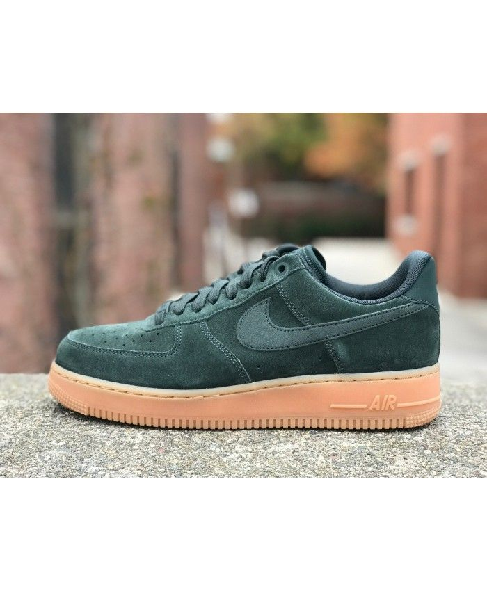 low priced 2d34a c28ed Nike Air Force 1 Suede Dark Green Shoes Sale UK