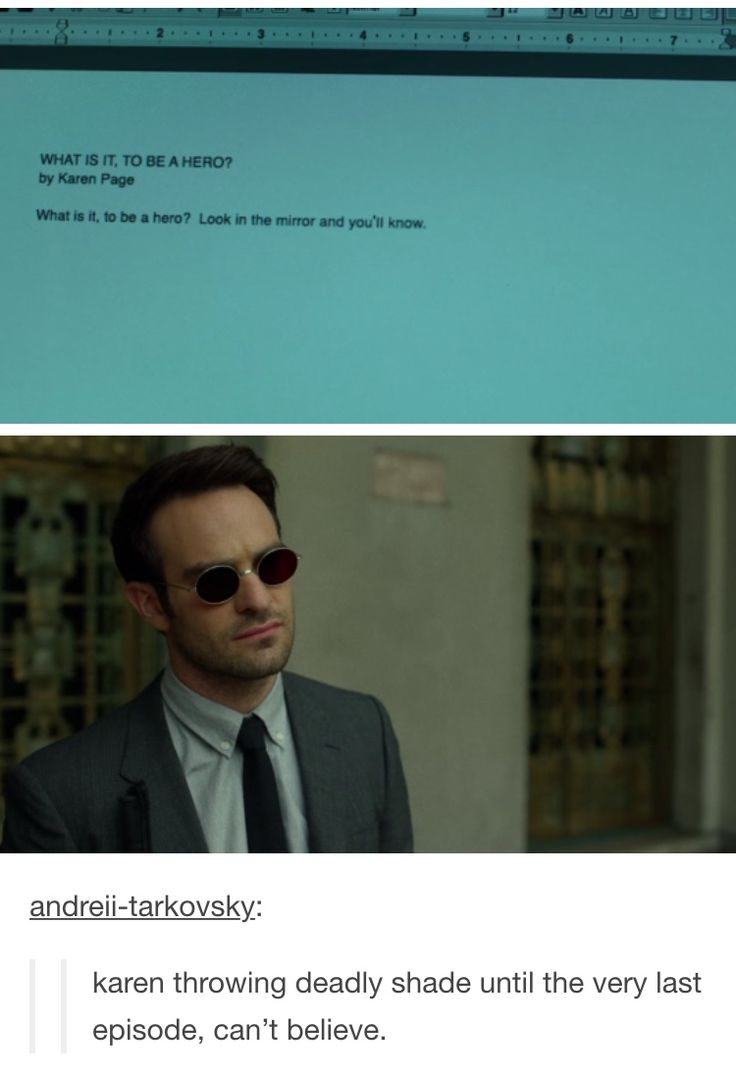 matt murdock/daredevil karen page text post