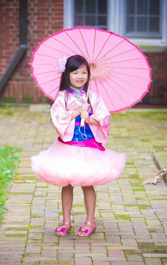 Mulan Princess Pettiskirt Costume-pocohontas, indian, halloween, costume, pettiskirt, tutu