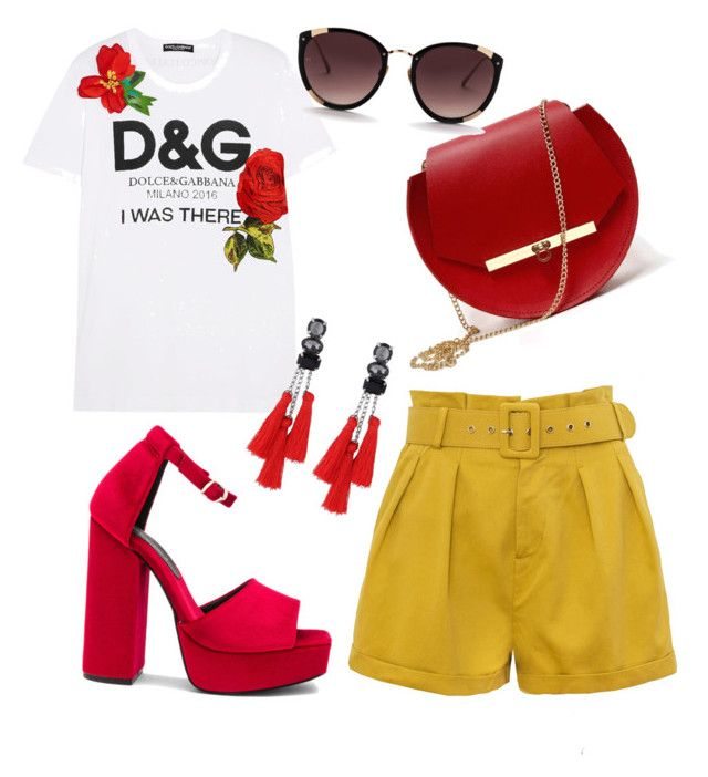 """summer"" by sarahshopaholicc on Polyvore featuring Dolce&Gabbana, Angela Valentine Handbags and Jeffrey Campbell"