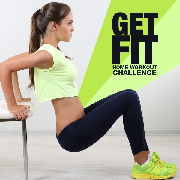 Take the Get Fit Home Workout Challenge. No excuses!  #getfit #homeworkout #workoutchallenges
