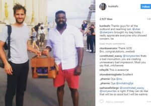 Kunle Afolayan retrieves the bag he forgot in an Uber in Paris