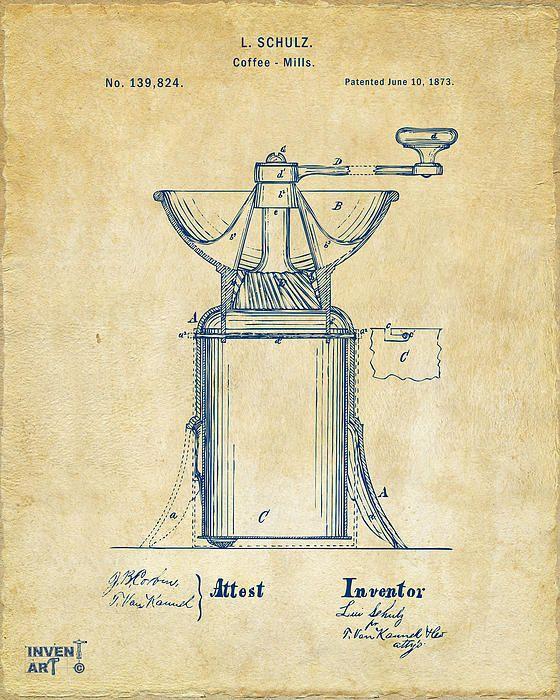 806 best vintage patents images on pinterest print store 1873 coffee mills patent artwork vintage nikki marie smith bryan tx metal malvernweather Gallery