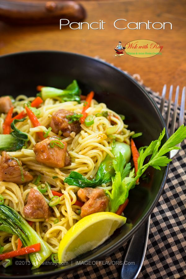 Pancit Canton is popular noodle dish in the Philippines along with Pancit Bihon, and Pancit Sotanghon. Canton noodles are made of flour sticks and the dish is