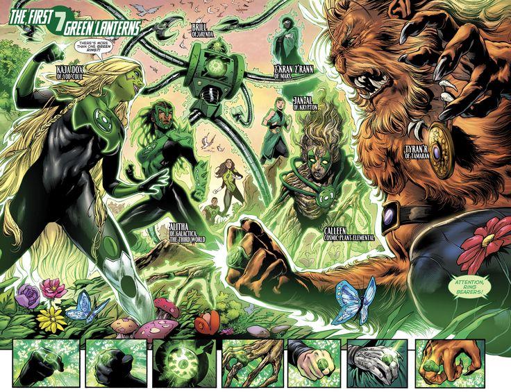 The First Seven Green Lanterns