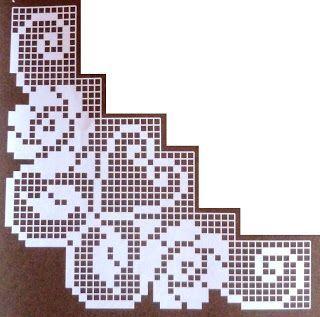 crochet em revista: esquema crochet toalhas: