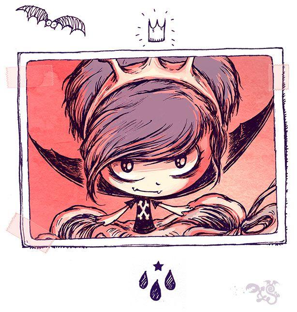 Moi, Spooky ! Reine des (grenouilles) Vampires. Ah, ah ah !