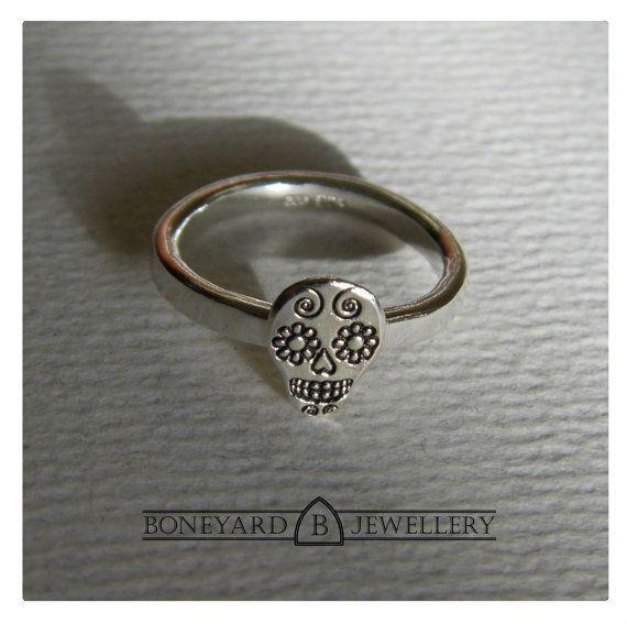 Sterling Silver Day of the Dead Sugar Skull by BoneyardJewellery, £19.99