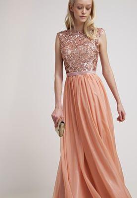 Ein Kleid Zum Verlieben Luxuar Fashion Ballkleid Apricot Fur 242