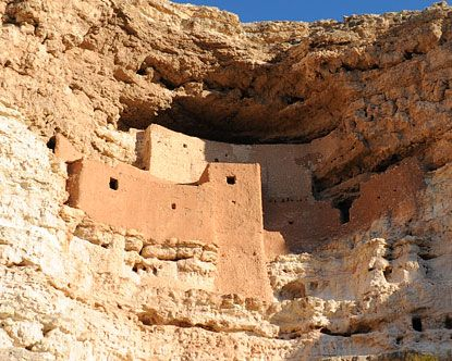 Montezuma Castle in Arizona is, like many of the buildings in the Mesa Verde complex in Colorado, one of the best-preserved ancient cliff dwellings in the United States.