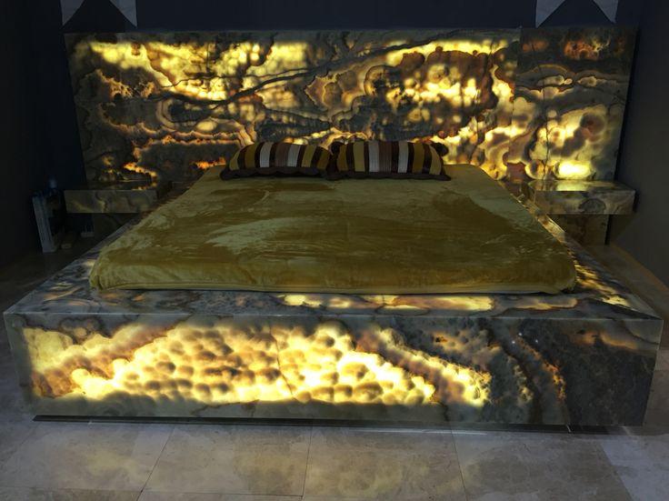 Mermer Yatak otası iç mekan tasarım