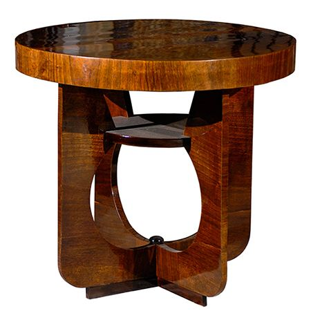 Hungarian Art Deco Side Table With Cut Out Legs