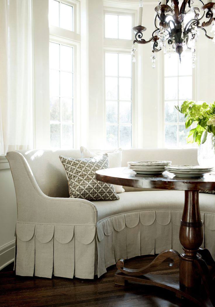Great Curved Bench Seating Indoor #4: Banquette Ideas. KItchen Dining. Settee. Curved Bench With Scallop Details  | Kitchens -