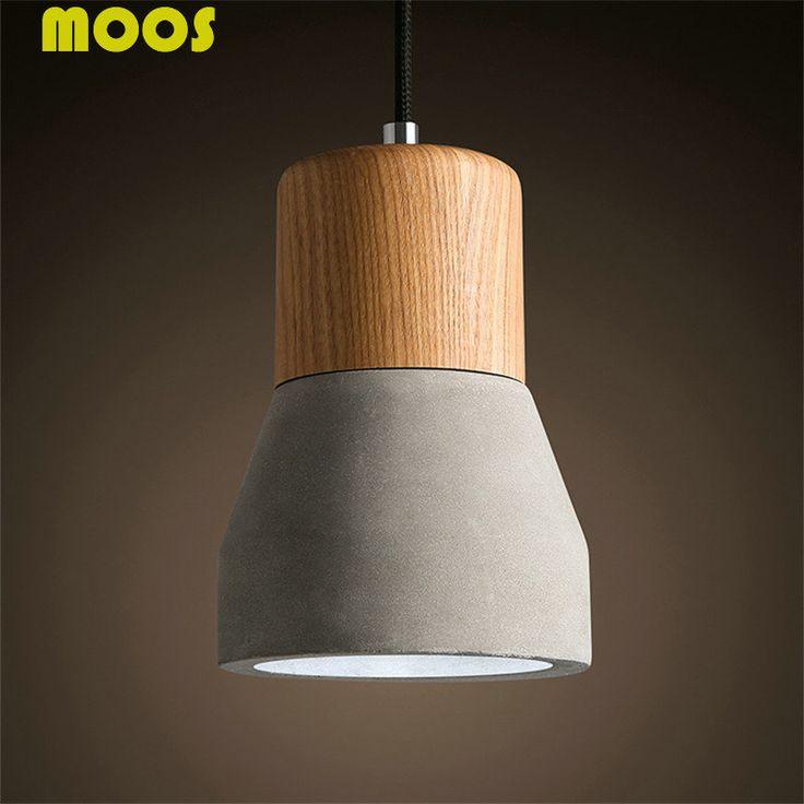 The Nordic Minimalist Retro Pendant Light Wood Cement Vintage Lamp Restaurant Dining Room Coffee Hall Pendente de teto Laparas-in Pendant Lights from Lights & Lighting on Aliexpress.com | Alibaba Group