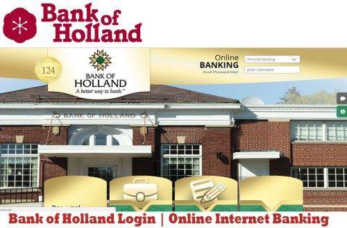 Bank of Holland Login   Online Internet Banking - Tecteem