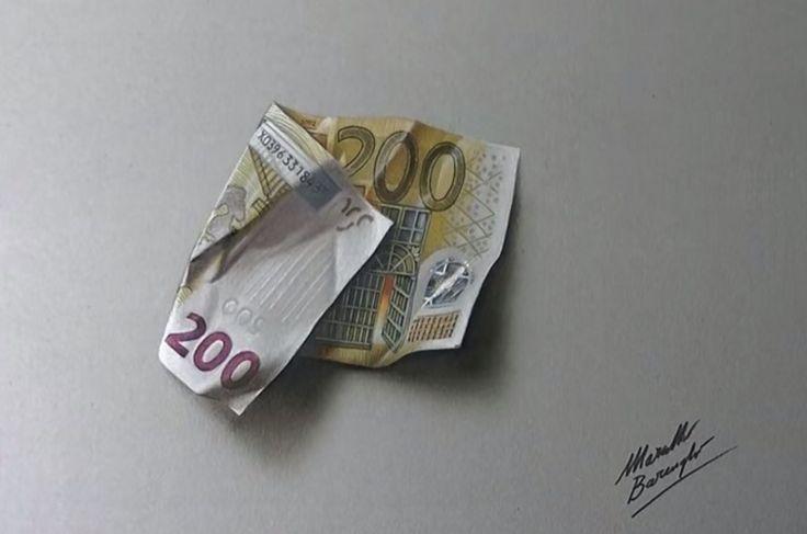 image finale dessiner un billet de 200 euros