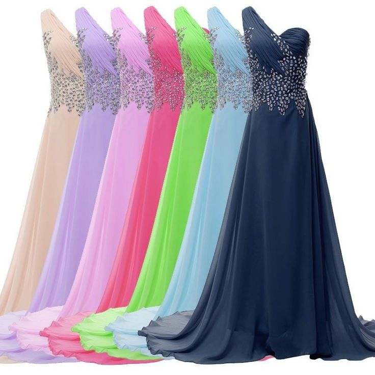 Luxury Long Chiffon Evening Formal Bridesmaid Wedding Ball Gown Prom Party Dress #GraceKarin #BallGown #Formal