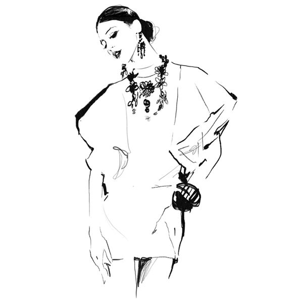 Fashion illustration - elegant fashion sketch // Judith van den Hoek