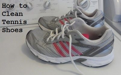 How to get those stubborn stains out of tennis shoes!
