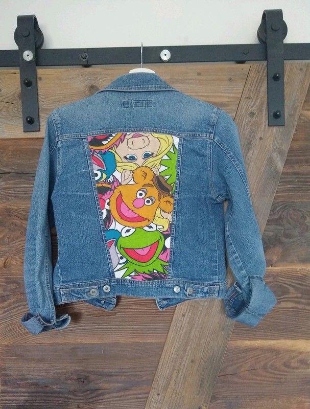 kurtka jeansowa spongebob zielona