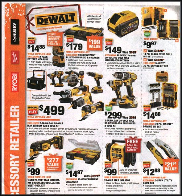 Home Depot Black Friday 2018 Tool Deals Page 5 In 2019