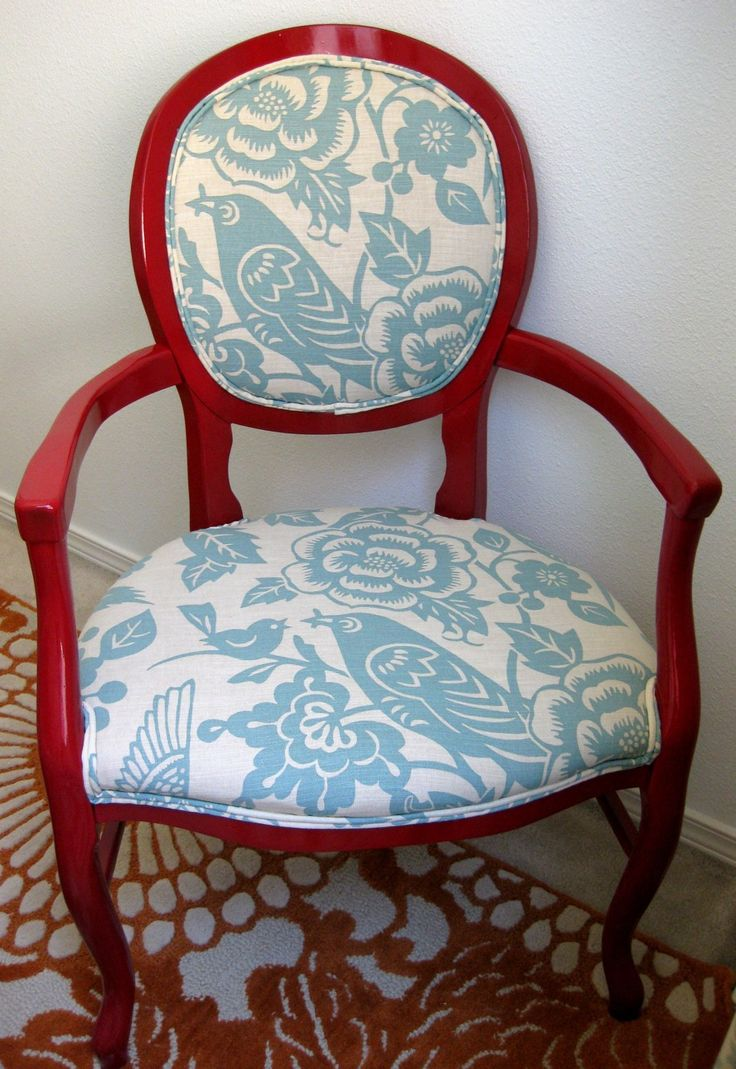28 best reupholster my chair images on Pinterest | Chairs, Painted ...