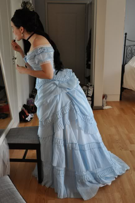 Before the Automobile: 1871 dress evening version: