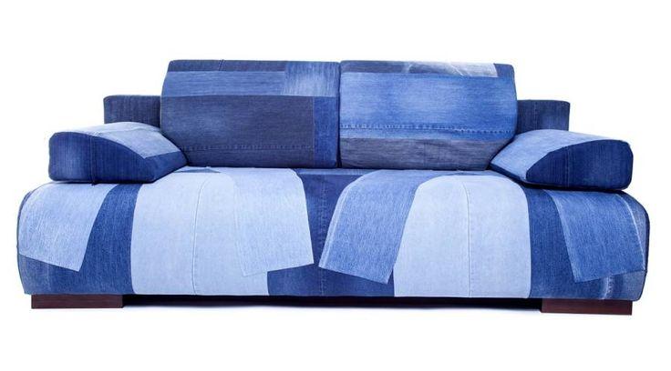 Recycled denim sofa. Újrahasznosított farmer kanapé