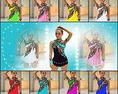 RSG traje de gimnasia rítmica rítmica RG competencia gimnasia leotard patinaje sobre hielo vestido de acrobacias juego akrobatischer rock ' n roll
