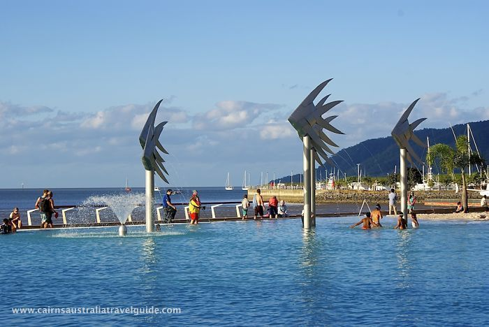 The Lagoon, Cairns Esplanade, Queensland - 4 hectares of saltwater. A favourite place for visitors and locals. And its free!