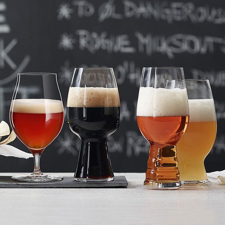 Spiegelau Craft Bierglas - Bier Tasting-Set, 4er-Set (1 IPA Glas, 1 Stout Glas, 1 American Wheat Beer Glas, 1 Barrel Aged Beer Glas)