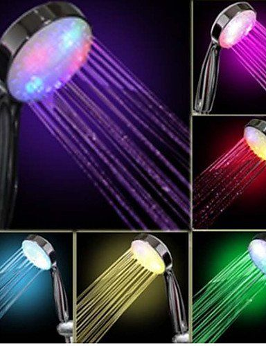 BIAN05 Colorful ABS LED Color Changing Hand Shower