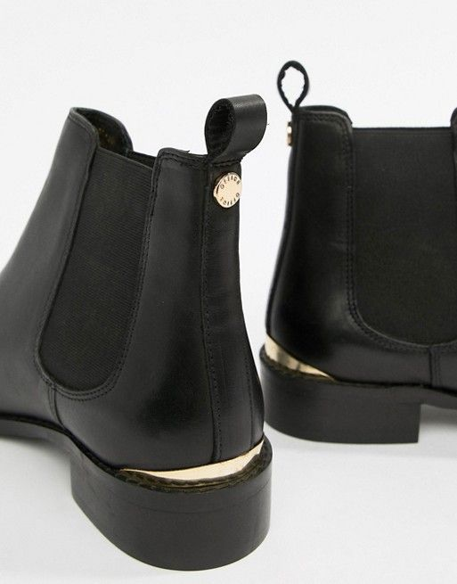 Bramble black leather chelsea boots