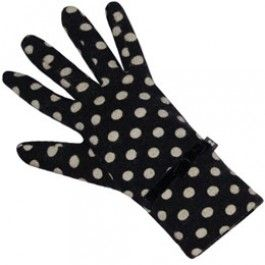 Navy Spot Jersey Gloves