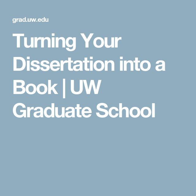Transform dissertation into book