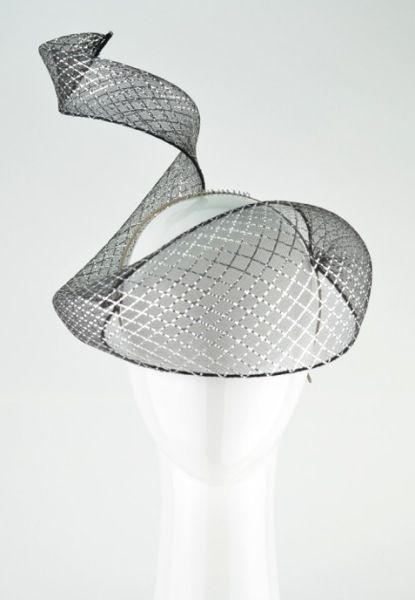 CRINOLINE SPIRALS   Gain all the skills you need to add crinoline veils to crowns or headpieces as your tutor Rebecca Share details all the steps to ensure your veil sits over the facial features securely. #millinery #hatacademy