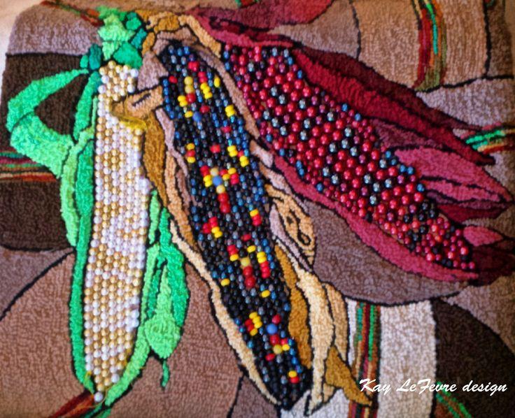Kay Lefevre Design Indian Corn Kernels Made With Pearls