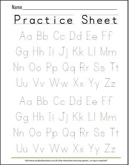 Weekly Alphabet Tracing Practice