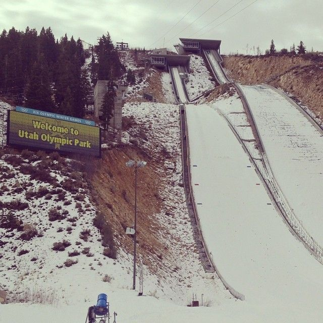 Iconic Park City Locations: Utah Olympic Park. Where the 2002 Winter Olympics had their ski jumping & luge, bobsled and skeleton events!