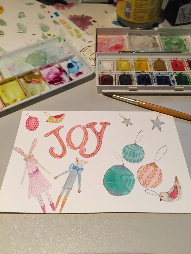 Original watercolour Christmas card    A watercolor holiday cards to spread some Christmas cheer.     Christmas   illustrated cards   seasons greetings   original illustration    https://www.behance.net/gallery/45897653/2016-Christmas-cards