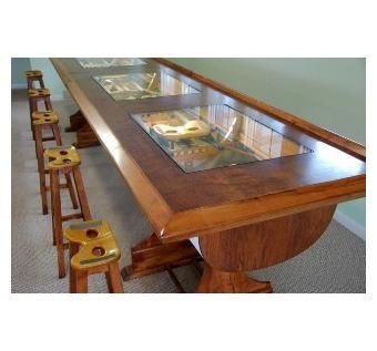 Rowing Boat Bar this is so cool i never thought about making a stool out of the seat i have and i guess i could make an end table from the shell piece