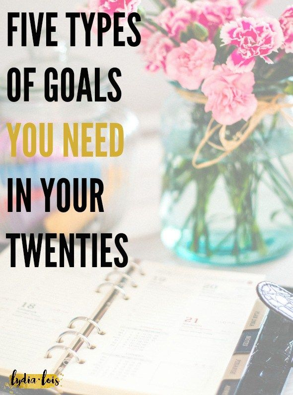 "The New Year is upon us and time to start those resolutions! If you are a twenty something like me wandering around trying to figure out how to get the ""perfect"" life. Let me steer you in the right direction with my five types of goals you need in your twenties!"