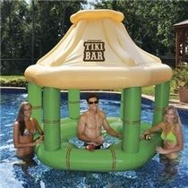 Celebrate Halloween with a Pool Party...Our awesome Inflatable Tiki Bar is essential to any pool party then add a couple Tiki Totems to complete the look.