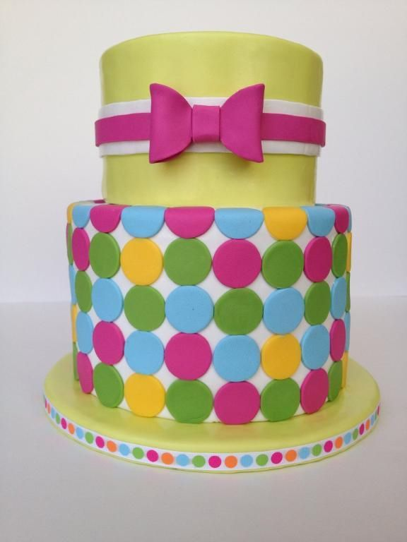 Colorful Polka Dot Cake. (Picture only)