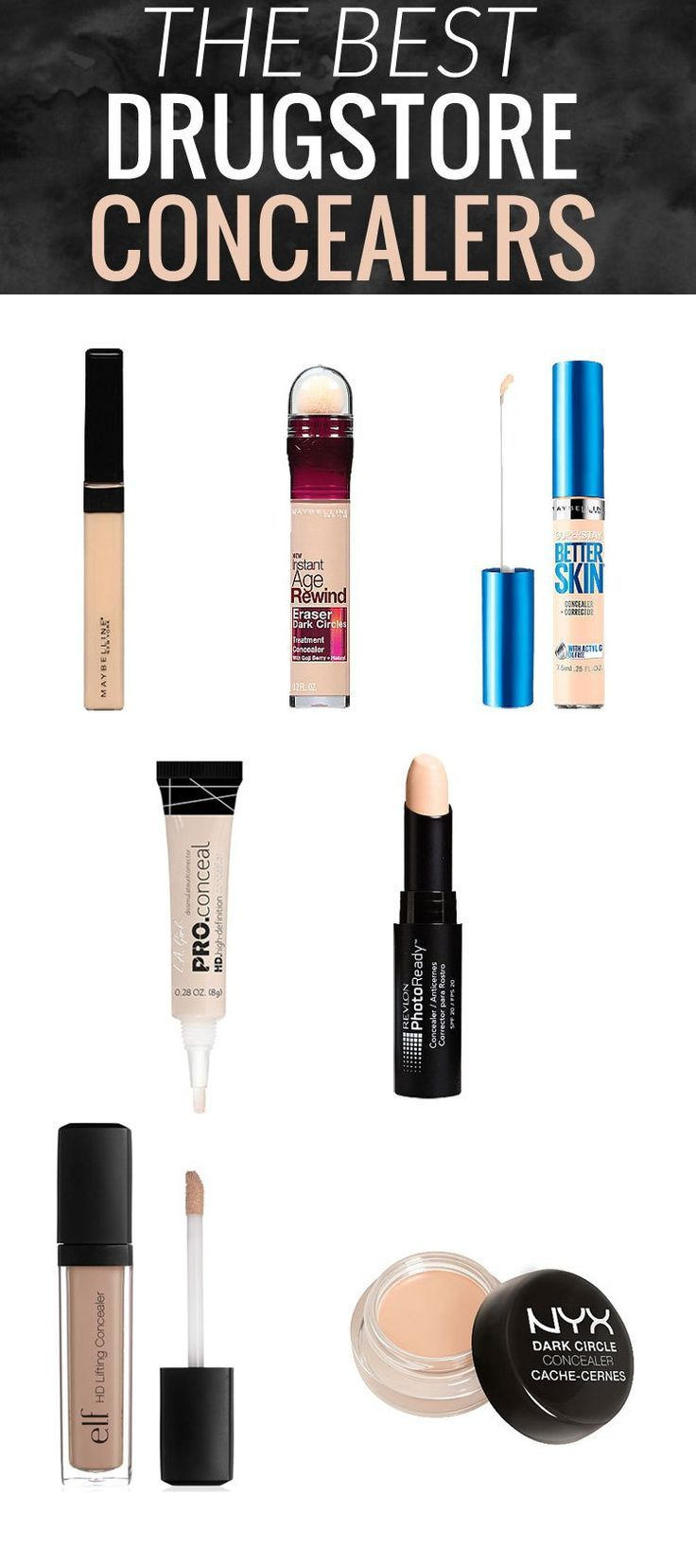 these 7 best drugstore concealers have got you covered - from under eye darkness to blemishes