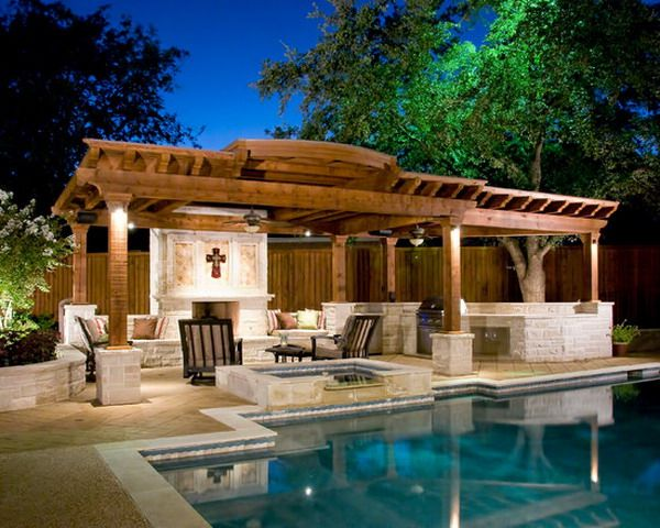 Modern Pool Cabana Ideas